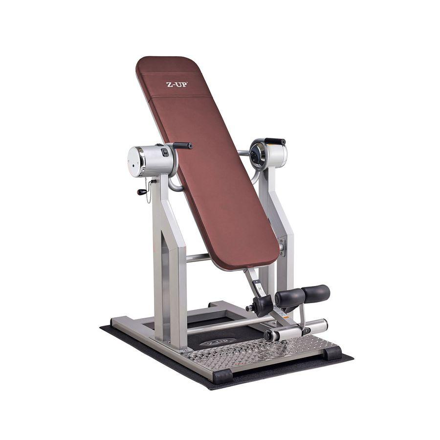 Инверсионный стол Z-UP 5 DarkBrownПрофессиональный инверсионный стол, который больше подходит для применения в фитнес центрах и тренажерных залах. Его можно успешно использовать и дома, но в таком случае, требуется качественно изучить инструкцию для того, чтобы правильно применять данный тренажер без участия профессионального тренера.<br>