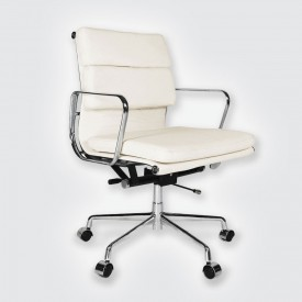 Кресло Eames Style Soft Pad Office Chair EA 217 кремовый