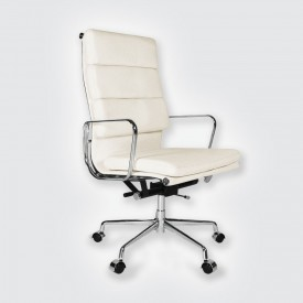 Кресло Eames Style HB Soft Pad Executive Chair EA 219 белый