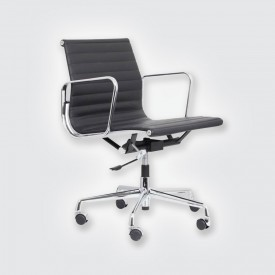 Кресло Eames Style Ribbed Office Chair EA 117 черный