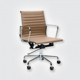 Кресло Eames Style Ribbed Office Chair EA 117 коричневый