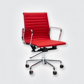 Кресло Eames Style Ribbed Office Chair EA 117 красный