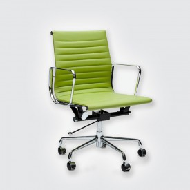 Кресло Eames Style Ribbed Office Chair EA 117 зеленый