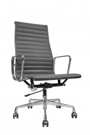 Кресло Eames Style HB Ribbed Office Chair EA 119 графит