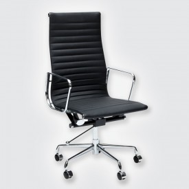 Кресло Eames Style HB Ribbed Office Chair EA 119 черный