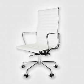 Кресло Eames Style HB Ribbed Office Chair EA 119 кремовый