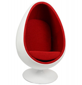 Кресло яйцо Scott Howard Ovalia Egg Style Chair красная ткань